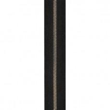 Молния рулонная металлическая №3 (тесьма чёрная/зуб никель)