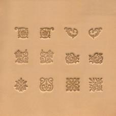 Штампы для тиснения по коже Растительные орнаменты Набор 12 шт IVAN Производитель: IVAN Тайвань Код