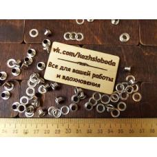 Блочка и люверс D 4 мм. никель. 50 шт.