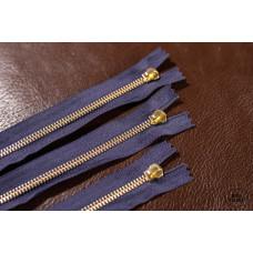 М-19. Молния YKK № 5, цвет фиолет+латунь 39 см