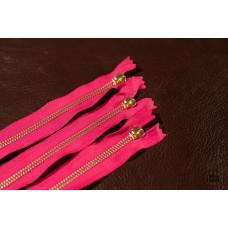 М-2. Молния YKK №5 розовый+латунь 31 см